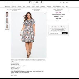 Eloquii zebra print flounce dress